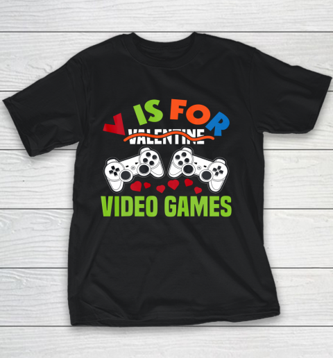 Funny Video Games Lover Valentine Day Youth T-Shirt