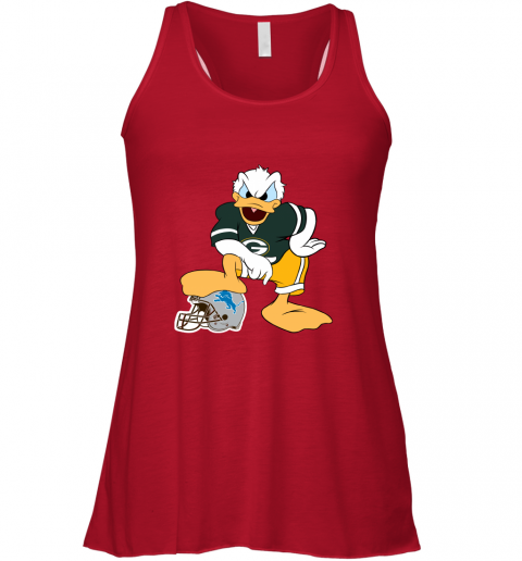 9qmn you cannot win against the donald green bay packers nfl flowy tank 32 front red