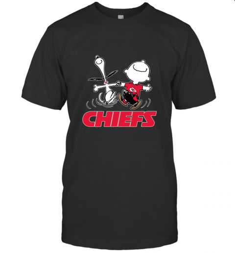 Snoopy And Charlie Brown Happy Kansas City Chiefs T-Shirt