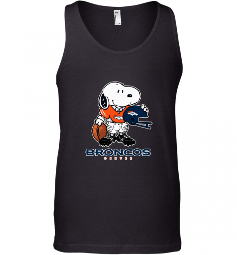 Snoopy Strong And Proud Denver Broncos Player NFL Tank Top
