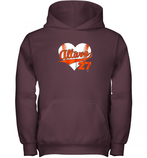 b57l jose altuve baseball heart shirtapparel youth hoodie 43 front maroon