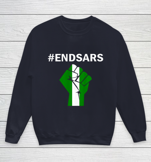 EndSARS End SARS Nigeria Flag Colors Strong Fist Protest Youth Sweatshirt 2