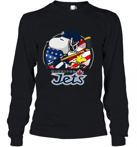 Winnipeg Jets  Snoopy And Woodstock NHL Youth Long Sleeve
