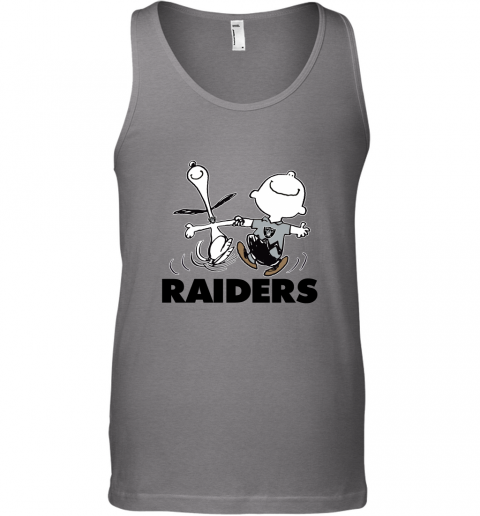 Snoopy And Charlie Brown Happy Oakland Raiders Fans Tank Top