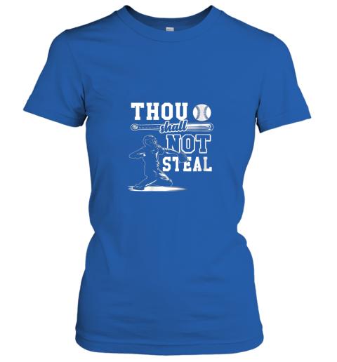 mlpv funny baseball thou shall not steal baseball player ladies t shirt 20 front royal