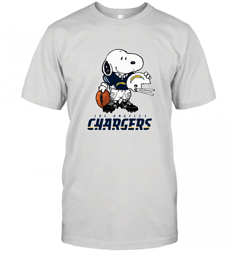 Snoopy A Strong And Proud Los Angeles Chargers Player NFL Unisex Jersey Tee