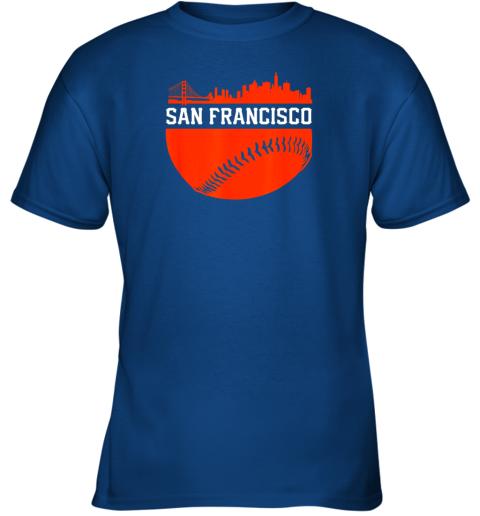 4rnd san francisco baseball vintage sf the city skyline gift youth t shirt 26 front royal