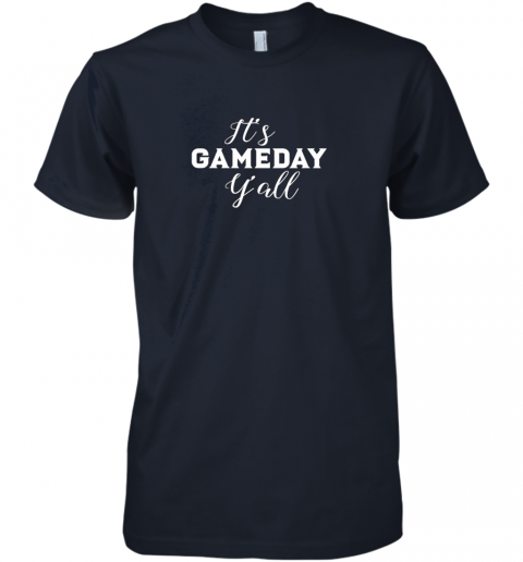 wheq it39 s game day y39 all football baseball basketball premium guys tee 5 front midnight navy