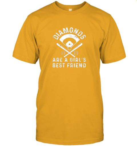 3tsp diamonds are a girl39 s best friend baseball jersey t shirt 60 front gold