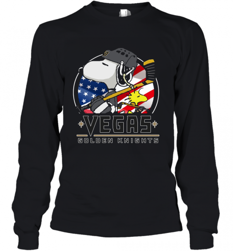 Vegas Golden Knights Ice Hockey Snoopy And Woodstock NHL Youth Long Sleeve