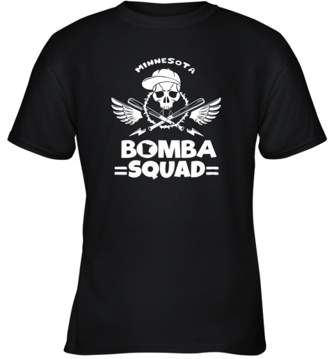BOMBA SQUAD Twins Shirt Minnesota Baseball Men BOMBA SQUAD Youth T-Shirt