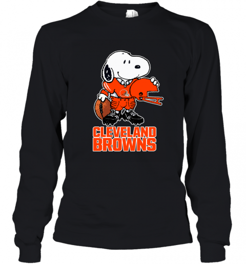 Snoopy A Strong And Proud Cleveland Browns NFL Youth Long Sleeve
