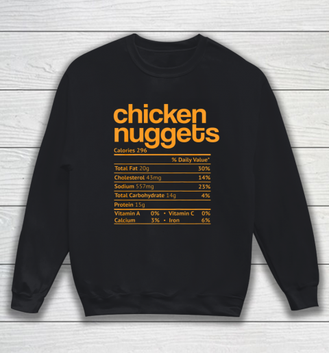 Chicken Nuggets Nutrition Facts Funny Thanksgiving Christmas Sweatshirt