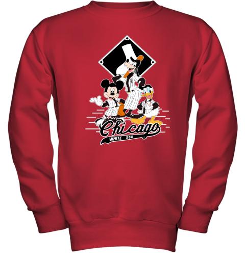 Chicago White Sox Mickey Donald And Goofy Baseball Youth Sweatshirt