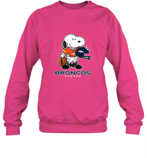 Snoopy A Strong And Proud Denver Broncos Player NFL Sweatshirt