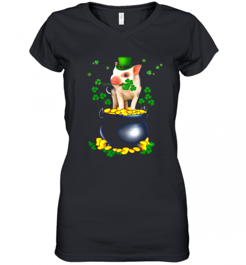 Pig Irish Shirt Women's V-Neck T-Shirt