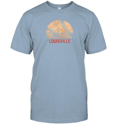 sm8l vintage baseball louisville shirt cool softball gift jersey t shirt 60 front light blue