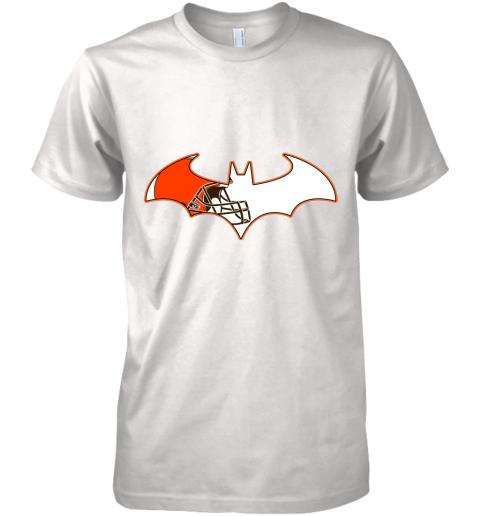 We Are The Cleveland Browns Batman NFL Mashup Premium Men's T-Shirt