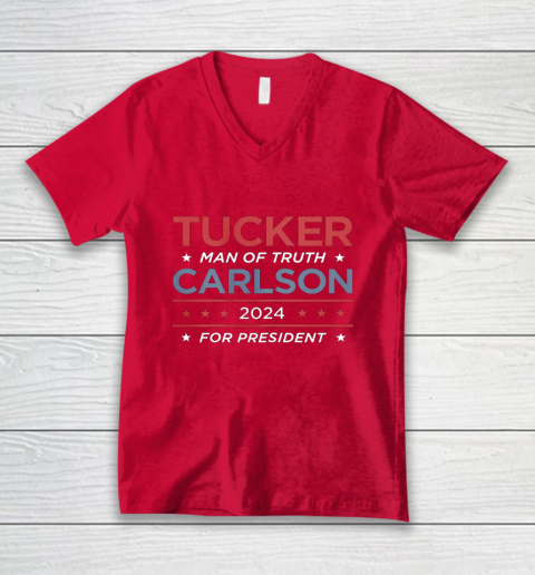 Vote For Tucker Carlson 2024 Presidential Election Campaign V-Neck T-Shirt 6