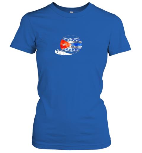 6pdk vintage baseball cuba flag shirt cuban pride ladies t shirt 20 front royal