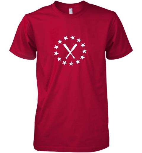 zrsr baseball with bats shirt baseballin player gear gifts premium guys tee 5 front red