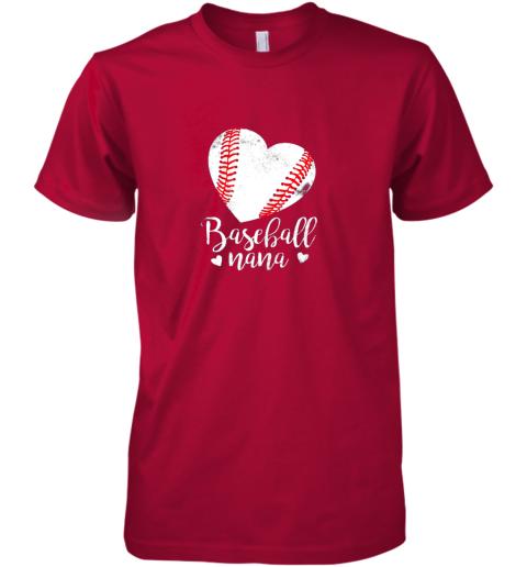 oyow funny baseball nana shirt gift for men women premium guys tee 5 front red