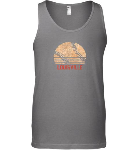 zkrz vintage baseball louisville shirt cool softball gift unisex tank 17 front graphite heather