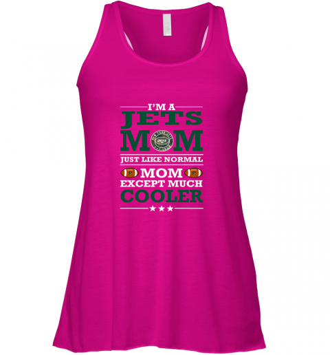 vqe2 i39 m a jets mom just like normal mom except cooler nfl flowy tank 32 front neon pink