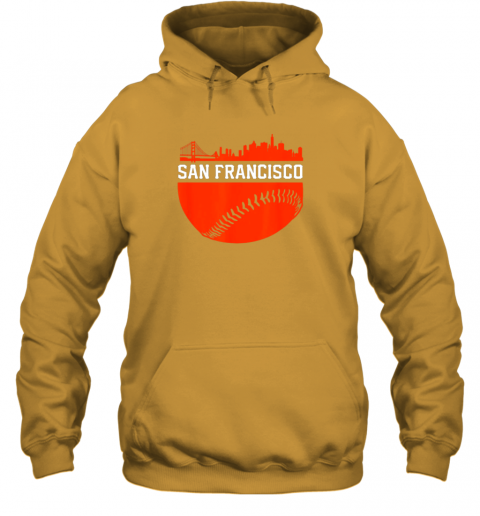 hpf3 san francisco baseball vintage sf the city skyline gift hoodie 23 front gold