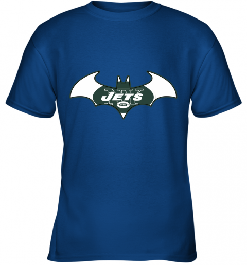 yafx we are the new york jets batman nfl mashup youth t shirt 26 front royal