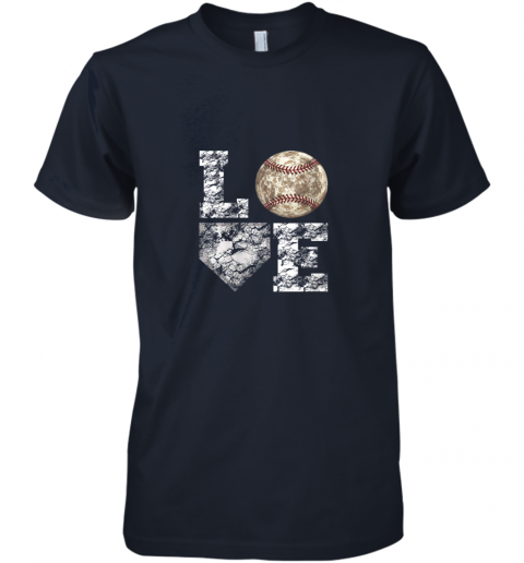 mexe baseball distressed ball cute dad mom love gift premium guys tee 5 front midnight navy