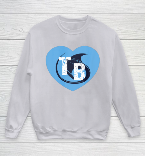 Stingray Love Tampa Bay Vintage TB Cool Tampa Bay Heart Youth Sweatshirt 4