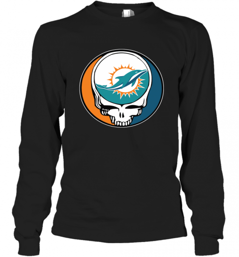 Miami Dolphins Grateful Dead Steal Your Face Football Nfl Shirts Men Long Sleeve Shirt