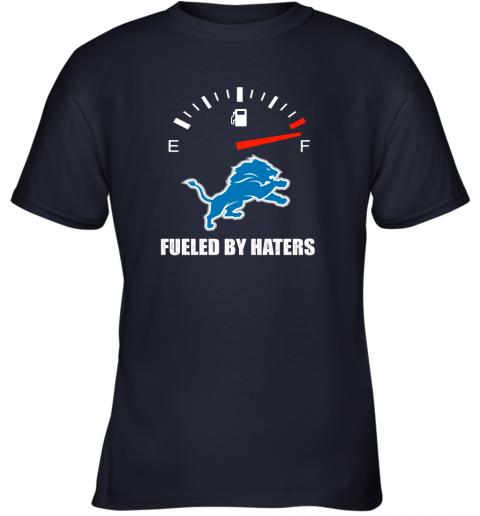 mrit fueled by haters maximum fuel detroit lions youth t shirt 26 front navy