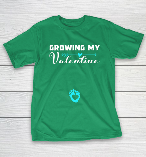 Cute Growing my Valentine Gift for Women pregnancy T-Shirt 5