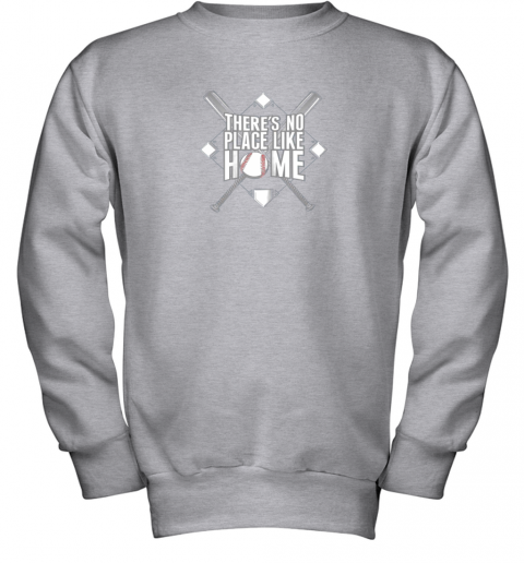 2wsq there39 s no place like home baseball tshirt mom dad youth youth sweatshirt 47 front sport grey