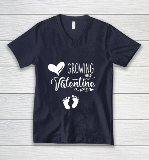 Growing my Valentine Tshirt for Wife V-Neck T-Shirt 2