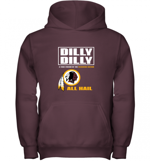 5j5v a true friend of the redskins youth hoodie 43 front maroon