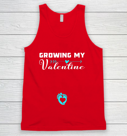 Cute Growing my Valentine Gift for Women pregnancy Tank Top 5