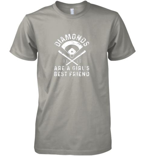 kk1p diamonds are a girl39 s best friend baseball premium guys tee 5 front light grey