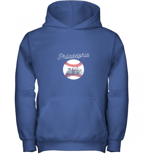 qs54 philadelphia baseball philly tshirt ball and skyline design youth hoodie 43 front royal