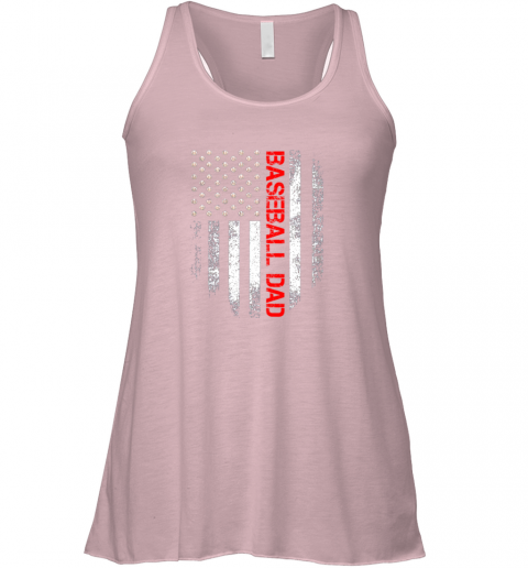 wgvu vintage usa american flag proud baseball dad player flowy tank 32 front soft pink