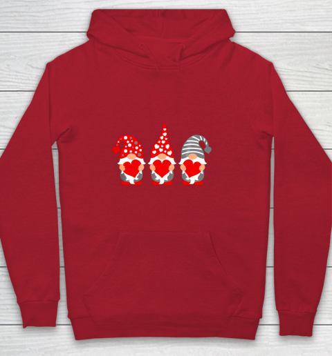 Gnomes Hearts Valentine Day Shirts For Couple Youth Hoodie 7