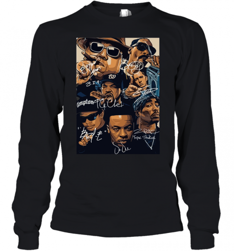 7 American Rapper Inspired Eazy E Biggie Tupac Snoop Dogg Jay-Z Eminem Youth Long Sleeve