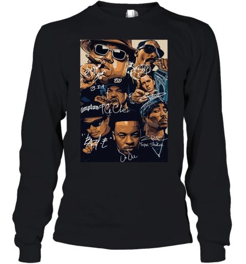 7 American Rapper Inspired Eazy E Biggie Tupac Snoop Dogg Jay-Z Eminem Youth Long Sleeve