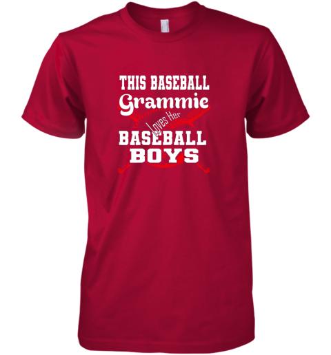 yoca this baseball grammie loves her baseball boys premium guys tee 5 front red
