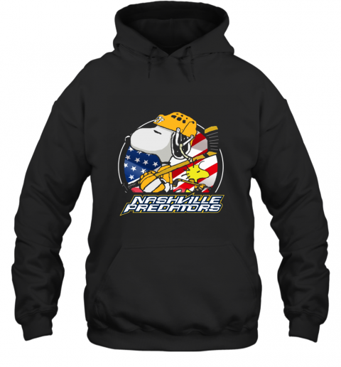 Nashville Predators  Snoopy And Woodstock NHL Hoodie