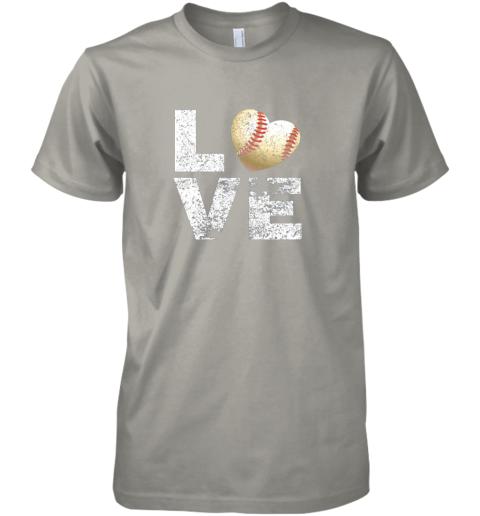lkon i love baseball funny gift for baseball fans lovers premium guys tee 5 front light grey