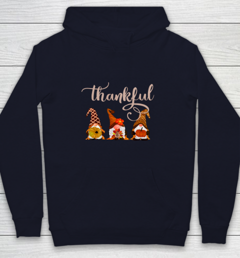 Cute Thanksgiving Thankful Gnomes Youth Hoodie 2