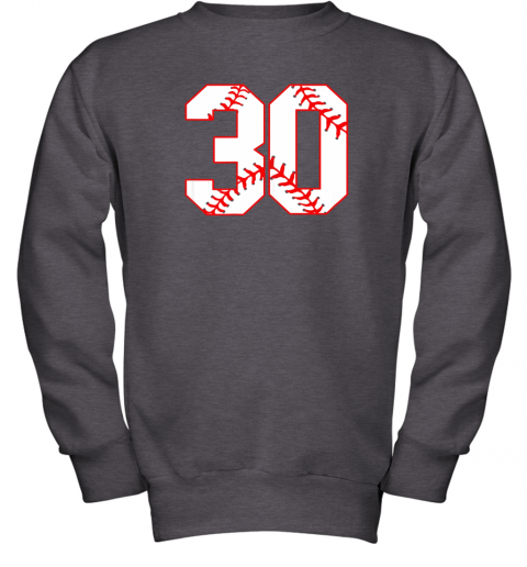 g99j thirtieth birthday party 30th baseball shirt born 1989 youth sweatshirt 47 front dark heather